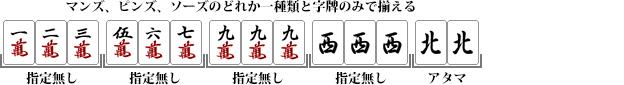 混一色(ホンイツ)