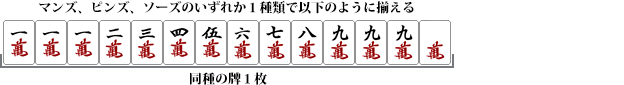 九蓮宝燈(チューレンポウトウ)