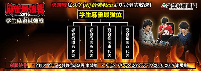 学生麻雀最強戦2016