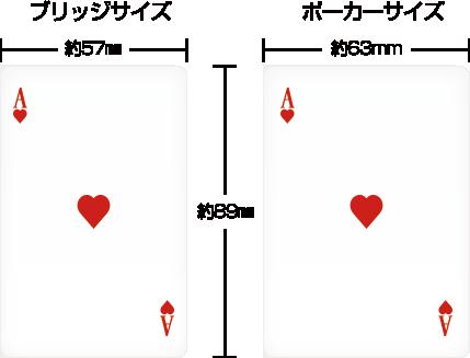 ブリッジサイズとポーカーサイズ